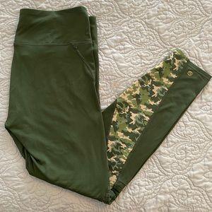 GUC SHAPE Activewear Moto Green w/Camo Leggings